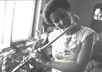 Toni Practicing Flute